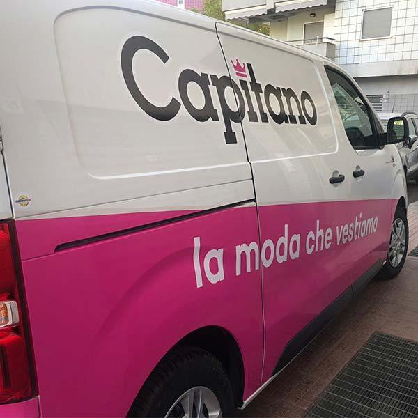 Wrapping furgone capitano cosenza